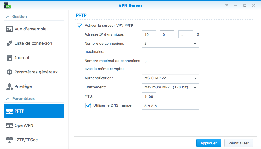 Iphone vpn to synology