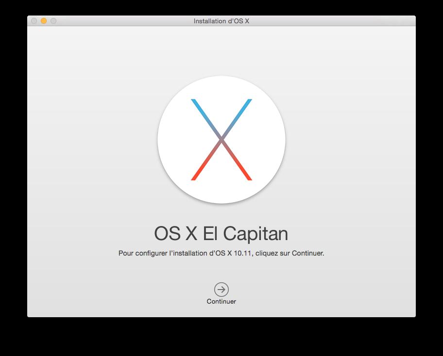Créer un disque d'installation El Capitan