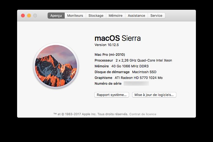 Mac Pro 2009 mis à jour en 2010
