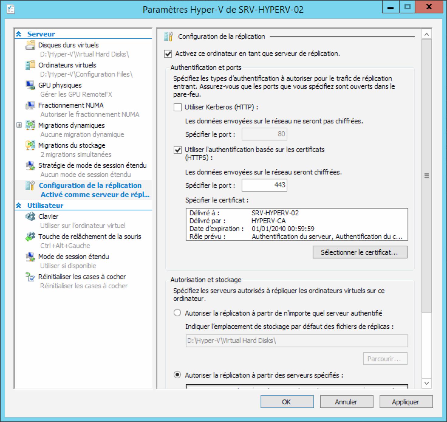 HTTPS sur Hyper-V